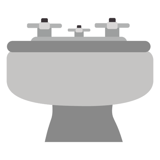 Flat grey washing basin Transparent PNG