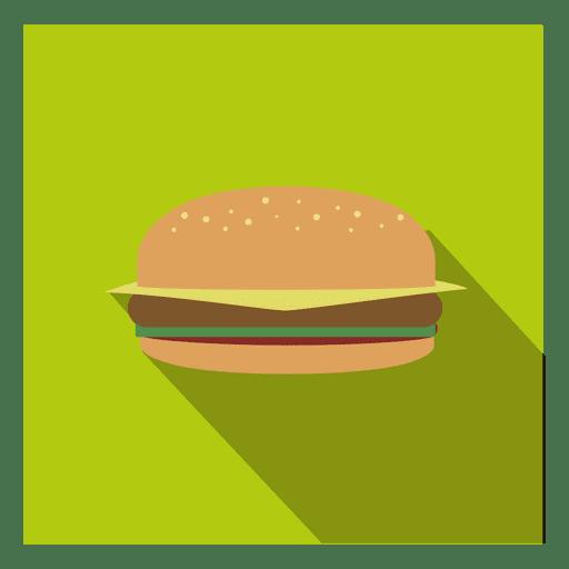 Icono cuadrado de hamburguesa plana