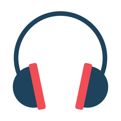 Flat headphone icon - Transparent PNG & SVG vector