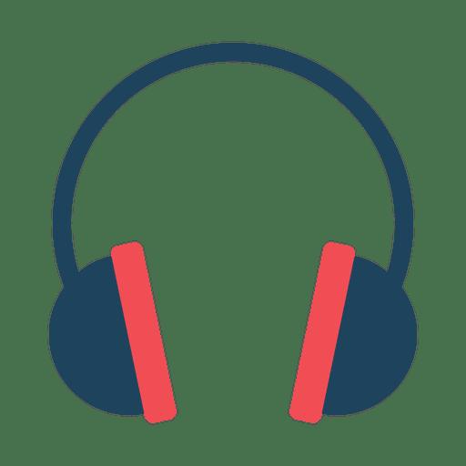 Icono de auricular plana Transparent PNG