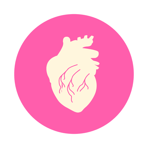 Flat heart circle icon Transparent PNG