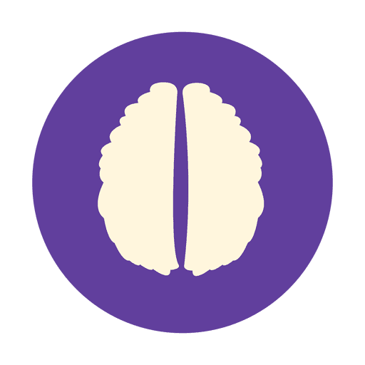 Flat human brain sign Transparent PNG