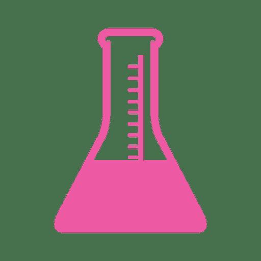 Flache Laborflasche Zeichen Transparent PNG