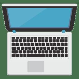 Flache Laptopikonenillustration