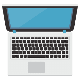 Flat laptop icon illustration