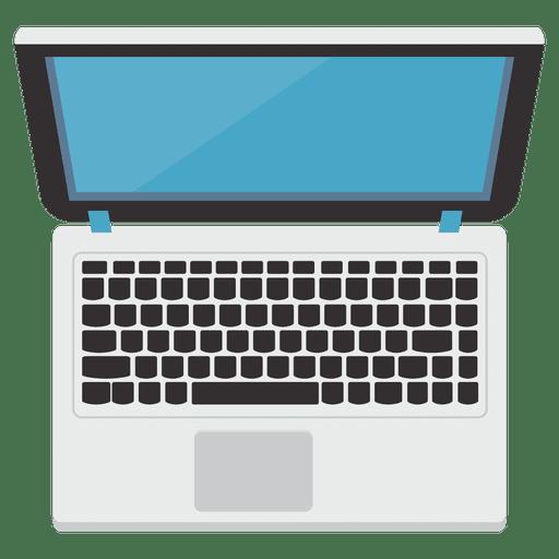 Flat laptop icon illustration