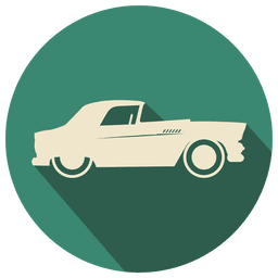 Flat retro car icon