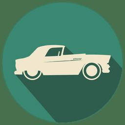 Icono de coche retro plana
