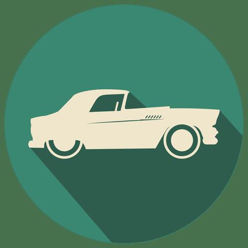 Flat retro car icon Transparent PNG