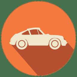 Icono de coche plano vintage