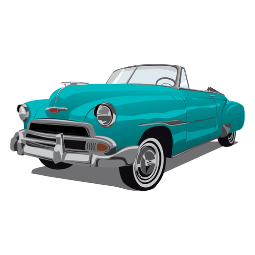 Fleetline retro glossy car Transparent PNG