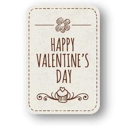 Floral decoration valentine badge
