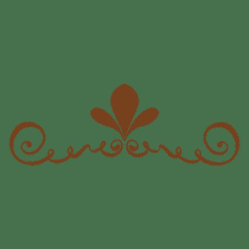 Blumenverzierte Dekoration Transparent PNG