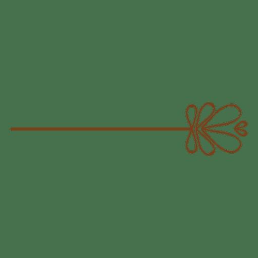 Adorno floral de la línea pin Transparent PNG