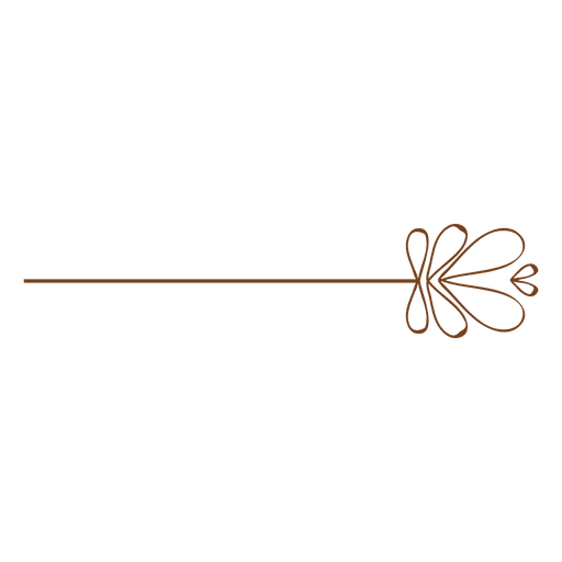 Floral pin line ornament Transparent PNG