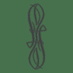 Ornamento de riscas de tatuagem floral