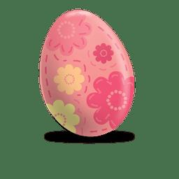 impresión floral huevo de Pascua