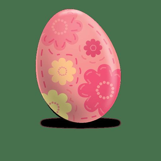 Floral print easter egg Transparent PNG