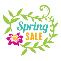 Floral spring sale label