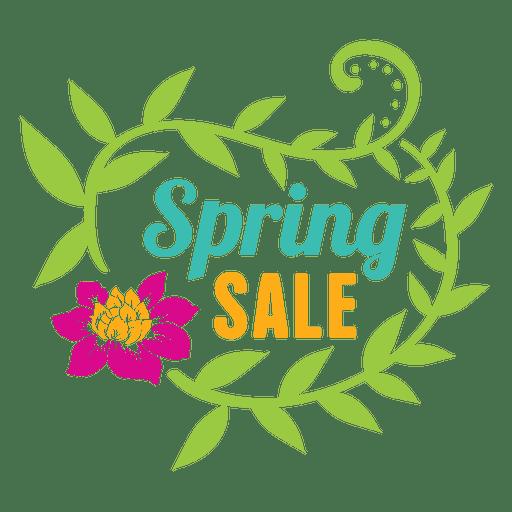 Floral spring sale label Transparent PNG