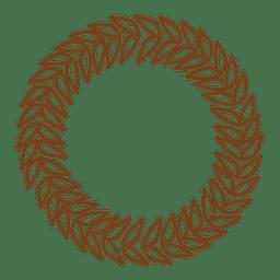Guirnalda floral con marco de decoración.