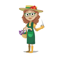 Florist profession cartoon.svg
