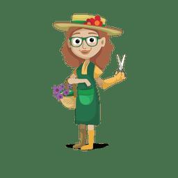 Florista profissão cartoon.svg