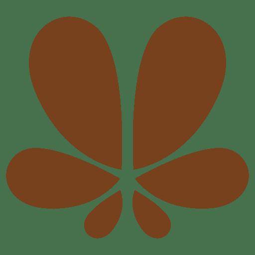 Flower petals decorative shape Transparent PNG