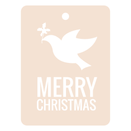 Flying bird christmas label