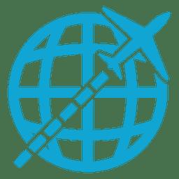 Icono global volador