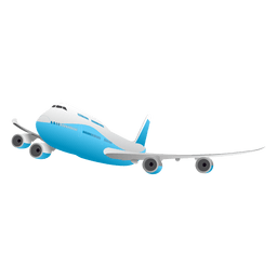 Avião brilhante