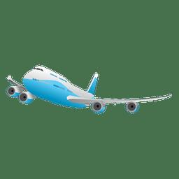 Fliegendes glänzendes Flugzeug