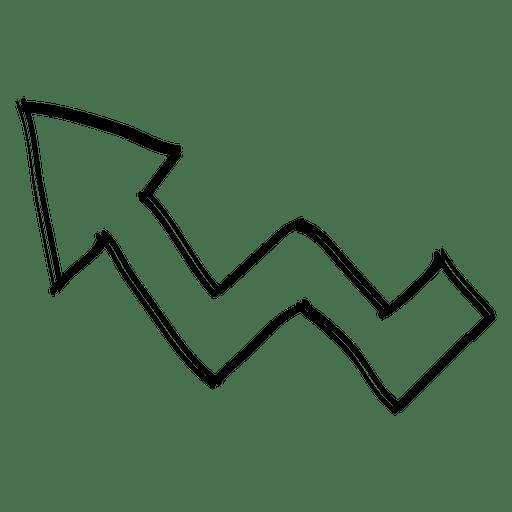 Folded left arrow direction