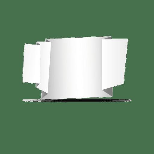 Folded sides origami banner Transparent PNG