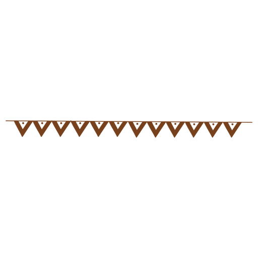 Folded triangle border pattern Transparent PNG
