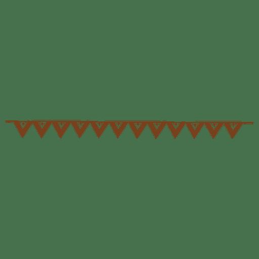 Folded triangle border pattern