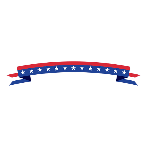 Folded usa flag ribbon Transparent PNG