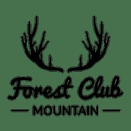 Emblema de viagens de clube de floresta