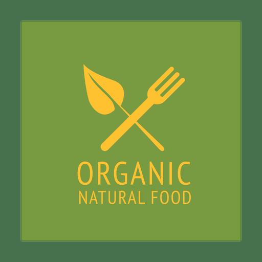 Fork organic label.svg Transparent PNG