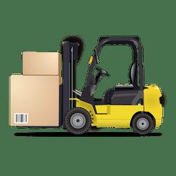 Ícone logístico de empilhadeira