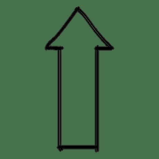 Forward direction arrow drawing