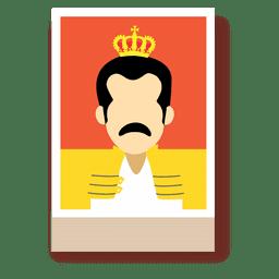 Dibujos animados de Freddie mercury avatar
