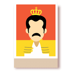 Freddie mercury cartoon avatar