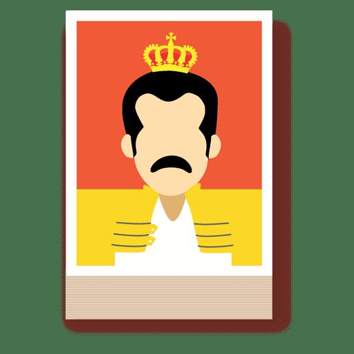 Freddie mercury cartoon avatar Transparent PNG