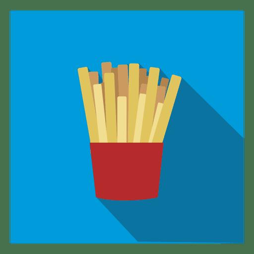 Icono cuadrado de papas fritas