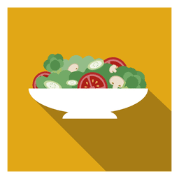 Fruit salad square icon