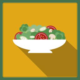 Icono cuadrado de ensalada de frutas