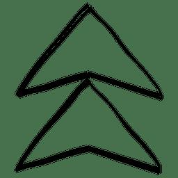 Flecha funky cursor de dibujo