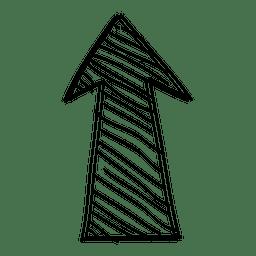 Desenho de seta para a frente funky