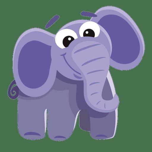 Desenho de elefante engraçado